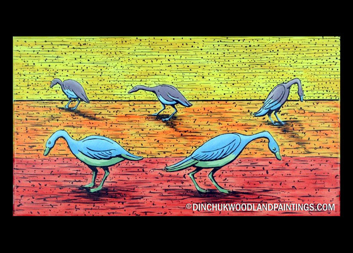 Tom Dinchuk: Five Geese