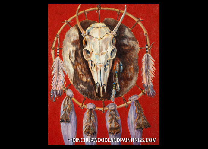 Tom Dinchuk: Skull and Feathers