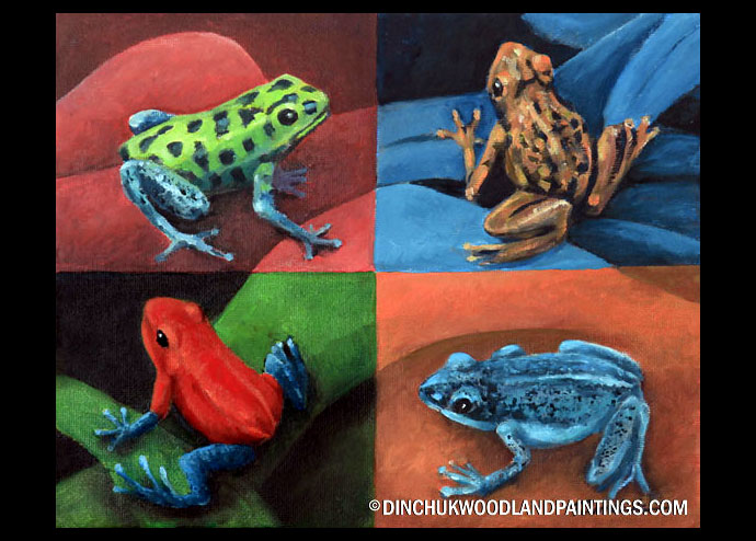 Tom Dinchuk: Four Frogs